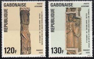 Gabon, Sc C176-C177, MNG, 1976, Jesus Between the Thieves, (LL00949)