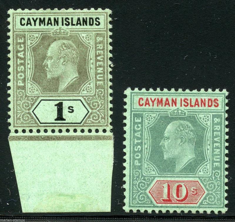 CAYMAN ISLANDS   SCOTT#29/30  MINT HINGED  FULL  ORIGINAL GUM