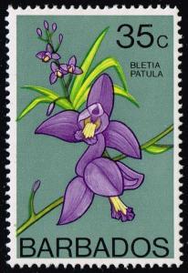 Barbados #406 Orchid; Unused (2.75)