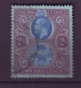 J21930 Jlstamps 1912-24 sierra leone used #116 king