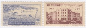 Syria, Sc C173-C174, MH/MNH, 1953, Latakia & Post Office Building