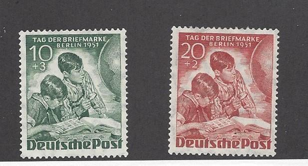 Germany (Berlin), 9NB6-7, Stamp Day 1951 Singles,**Used**