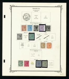 Bermuda 1810s to 1960s Stamp Collection
