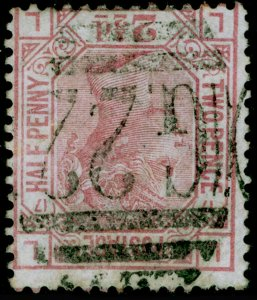 SG141, 2½d rosy mauve plate 17, USED. Cat £300++. WMK INV. LL