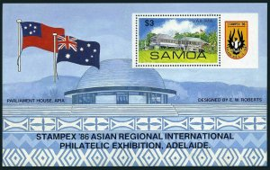 Samoa 679 sheet,MNH.Michel 595-598. STAMPEX-1986 Asian Regional PhilEXPO.