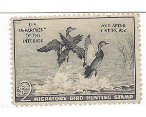 United States, RW18, $2 Gadwalls Duck Single,**MNH**