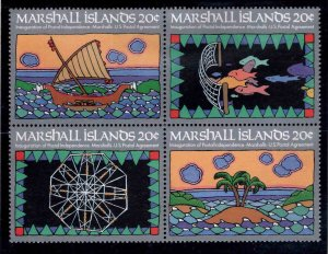 Marshall Islands Scott 31-34 MNH** Postal Services block