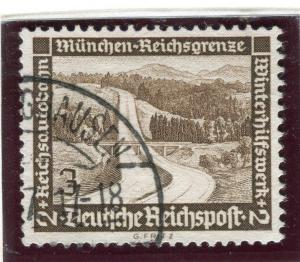 GERMANY;    1936 early Winter Relief issue fine used 3pf. value