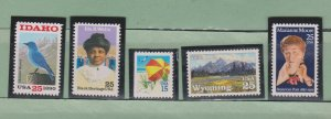 US Postage Stamps MNH (5 stamps)