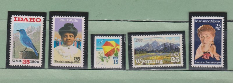 US Postage Stamps MNH (5 stamps)