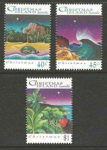 CHRISTMAS ISLAND SG382/4 1993 CHRISTMAS MNH
