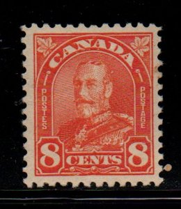 Canada Sc 172 1930 8c red orange G V Arch issue stamp mint