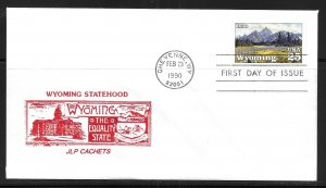 United States 2444 Wyoming Statehood JLP Cachets First Day Cover FDC (z10)
