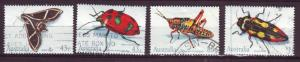J12969 JLstamps 1991 australia used set #1211-4 insects