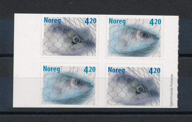 [59874] Norway 2000 Fish Mackerel Herring Self Adhesive from booklet MNH