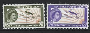 Turks and Caicos Islands MH S.C. # 136 - 137