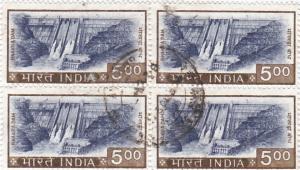 India  #  684  used  block of 4