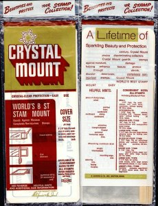 CRYSTAL MOUNT H.E. HARRIS LARGE COVER SIZE  SEALED PACKAGE