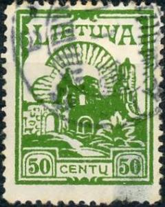 Lithuania #169 50c Ruin Used/H