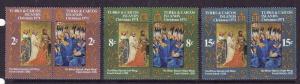 Turks & Caicos-Sc#240-5-unused NH set-Christmas-Paintings-1971-
