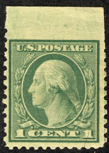US US #538 IMPERF MARGIN AT TOP,  VF mint never hinged, post office fresh col...