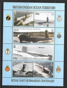 BRITISH INDIAN OCEAN TERR SG247a 2001 ROYAL NAVY SUBMAIRNES MNH