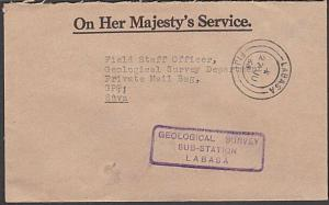 FIJI 1966 OHMS Geological survey cover LABASA to Suva......................54516
