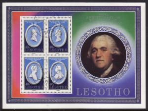 Lesotho #301 s/sheet F-VF Used (CTO) Josiah Wedgewood
