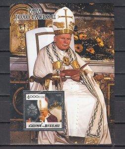Guinea-Bissau MNH S/S Pope John Paul II Silver Foil
