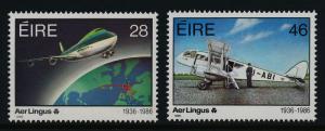 Ireland 660-1 MNH Aircraft, Map
