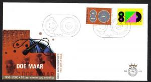 Netherlands 2000 FDC 419 stamps 'doe maar vijf'  (from PB61)