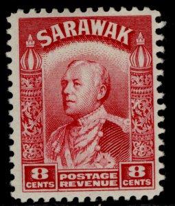 SARAWAK GVI SG112a, 8c carmine, M MINT.
