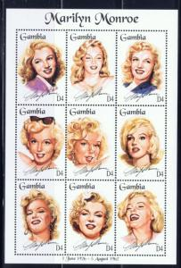 Gambia 1601 NH 1995 Marilyn Monroe Sheet