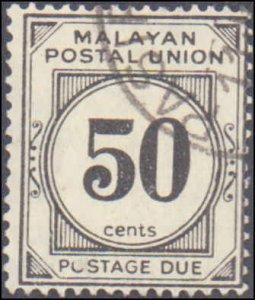Malaya - Federation of Malaya #J12, Incomplete Set, 1938, Used