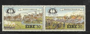 IRELAND, 802A, MNH, PAIR, JAMES II & WILLIAM II