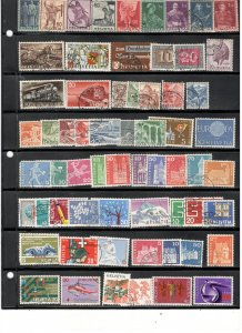 SWITZERLAND COLLECTION ON STOCK SHEETS
