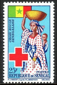 Senegal 229, MNH. Senegalese Red Cross. Flag, Mother and Child, 1963