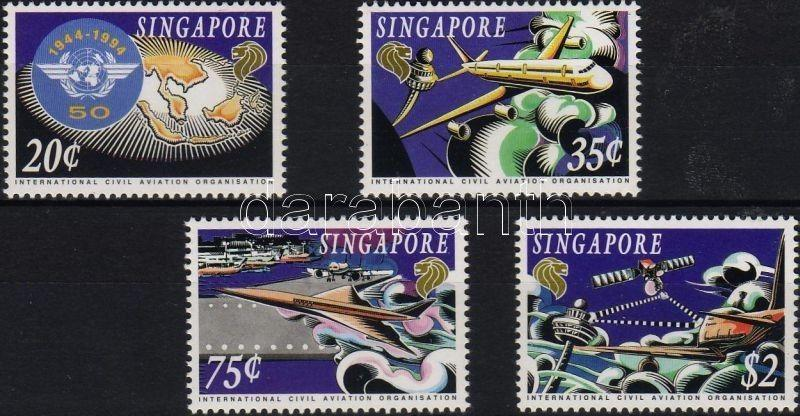 Singapore stamp 50th anniversary of ICAO set MNH 1994 Mi 746-749 WS6243