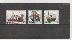 Singapore  Scott#  164-166  Used  (1972 Shipping Industry)