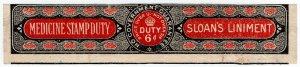 (I.B) George V Revenue : Medicine Duty 6d (Sloan's Liniment)