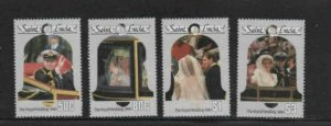 ST. LUCIA #846-849 1986 WEDDING PRINCE ANDREW MINT VF NH O.G