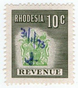 (I.B) Rhodesia Revenue: Duty Stamp 10c (1970)