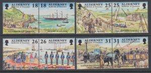Alderney 106-113a MNH VF