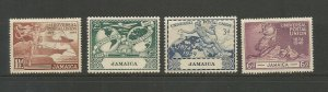 Jamaica 1949 75th Anniversary Of UPU Mounted Mint Set SG 145/8