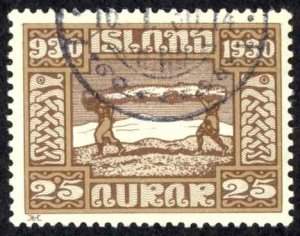 Iceland Sc# 158 Used 1930 25a Definitives