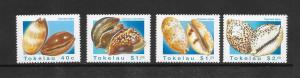 SHELLS- TOKELAU #232-35  MNH