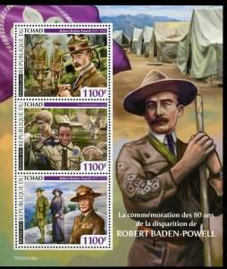 CHAD  2021 80th MEMORIAL OF BADEN POWELL SCOUTS SHEET MINT NEVER HINGED