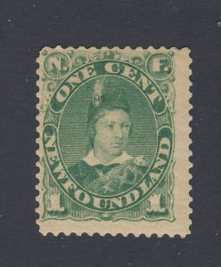 Newfoundland Used Stamp; #45-1c MH F/VF Guide Value = $30.00