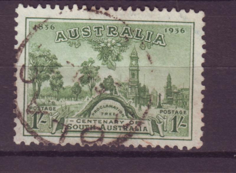J16464 JLstamps 1936 australia hv of set used #161 adelaide