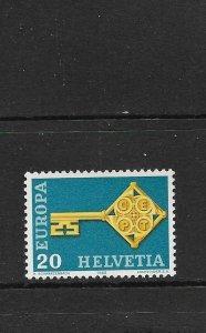 SWITZERLAND - EUROPA 1968 - SCOTT 488 - MNH